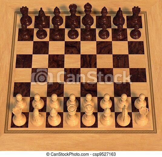 Polished Wood Chess Set - csp9527163