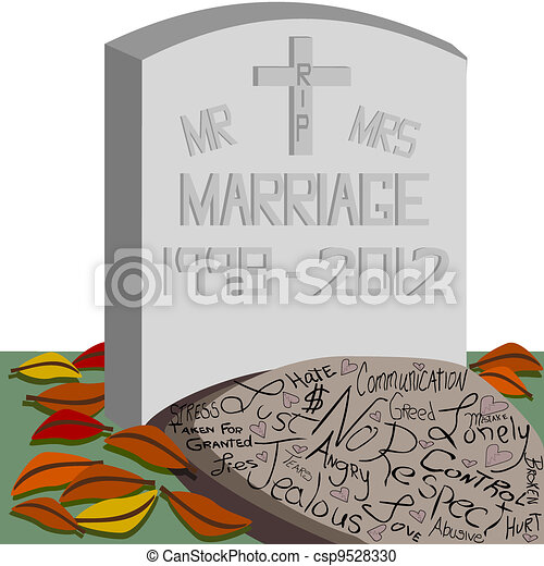 RIP Marriage  - csp9528330