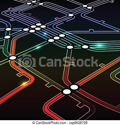 background of metro scheme - csp9528728