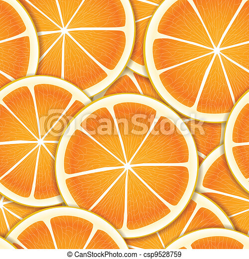 Citrus segments seamless background - csp9528759