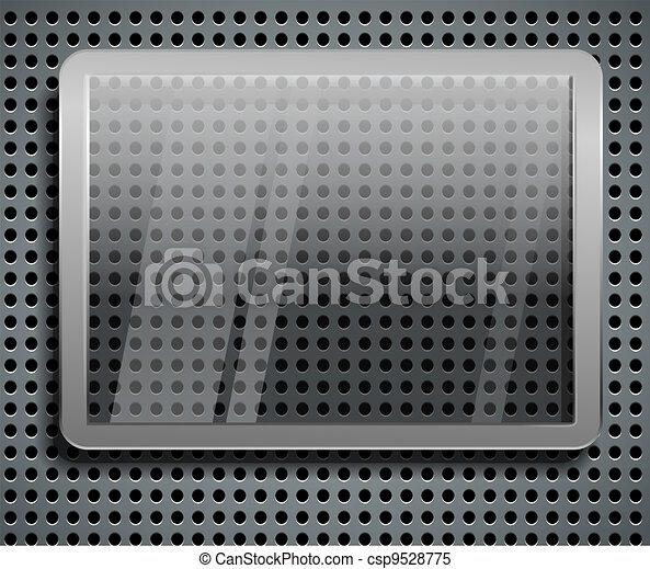 Advertising glass board on steel - csp9528775