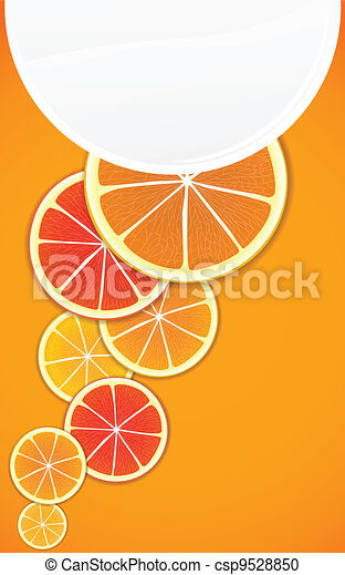 Citrus background. Ready for a text - csp9528850