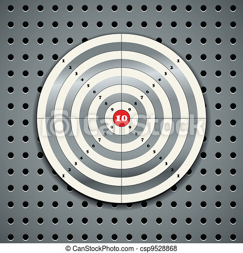 Target on steel background - csp9528868