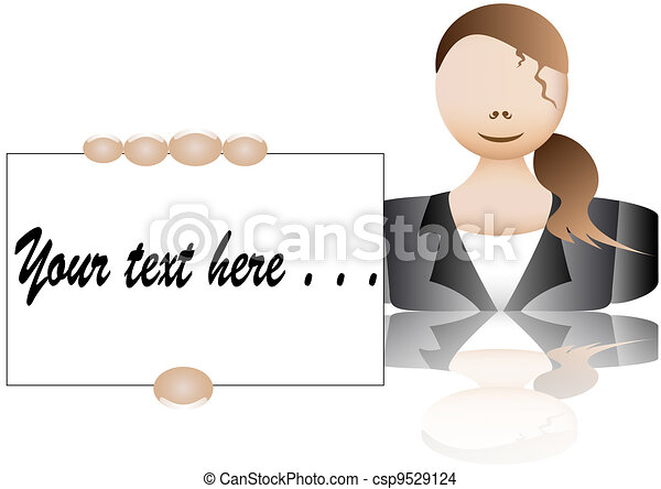 businesswoman business card - csp9529124