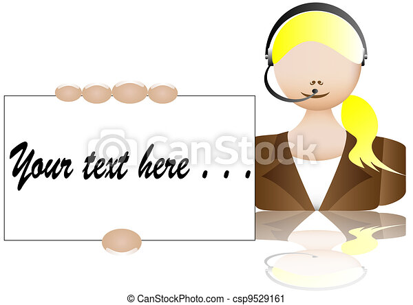call center operator woman business - csp9529161