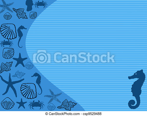 Seashell poster background - csp9529488