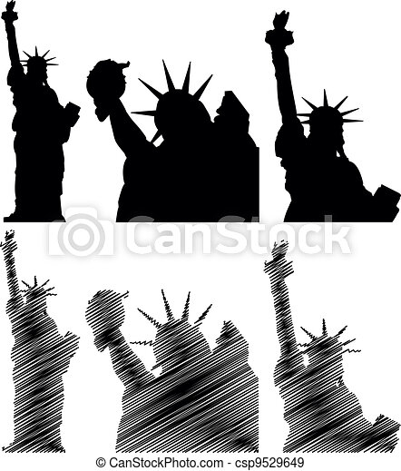 scratch statue of liberty - csp9529649