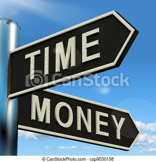 Time Money Signpost Showing Hours Are More Important Than Wealth - csp9530158