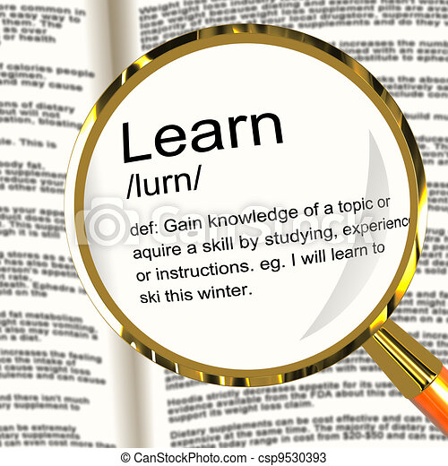 Learn Definition Magnifier Showing Knowledge Gained And Study - csp9530393