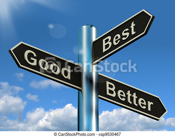 Good Better Best Signpost Representing Ratings And Improvements - csp9530467