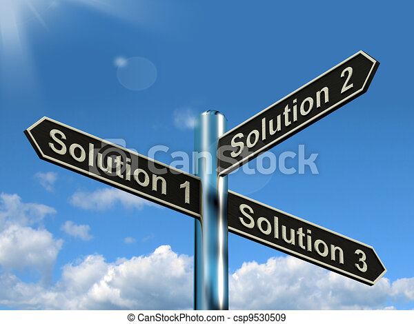 Solution 1 2 or 3 Choice Shows Strategy Options Decisions Or Solving - csp9530509