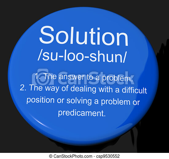 Solution Definition Button Showing Achievement Vision And Succes - csp9530552