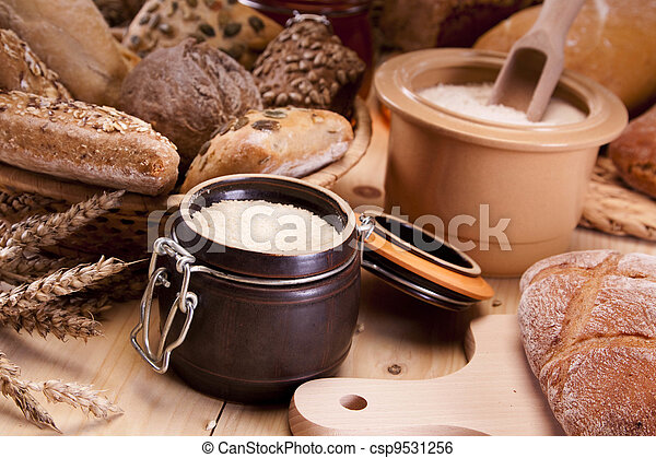 Baking bread and loafs - csp9531256