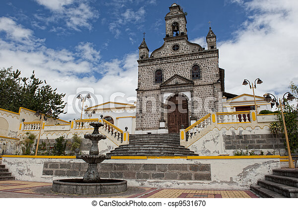 Church in the Andes in Ecuador - csp9531670