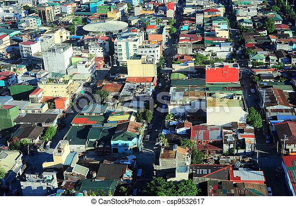 Slums in Manila - csp9532617