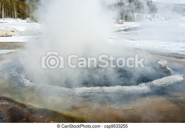 Hot Spring, Winter, Yellowstone NP - csp9533255