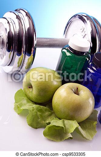 Food supplements, healthy diet - csp9533305