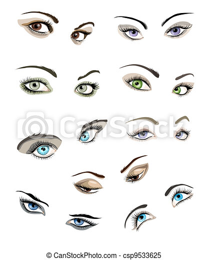 Woman's eyes set - csp9533625