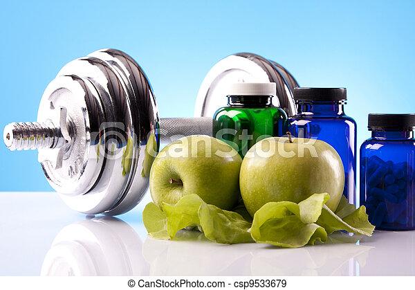 Food supplements, healthy diet - csp9533679