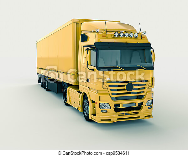 Truck on a light background - csp9534611