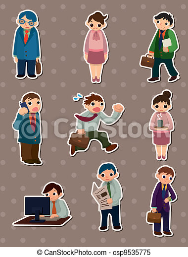 Vector Clipart of Office people - The symbolic representation ...