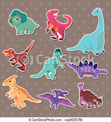 dinosaur stickers - csp9535786