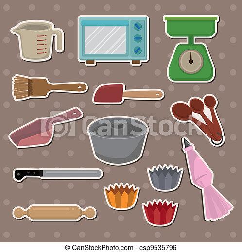 Baking Equipment Drawing Vector Baking Stickers