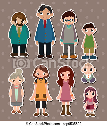 family stickers - csp9535802