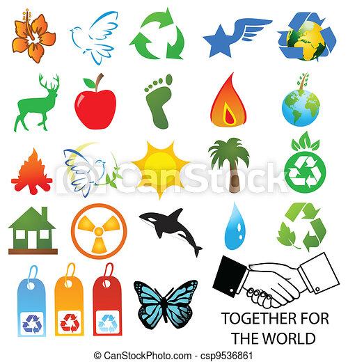 environmental / recycling icons  - csp9536861