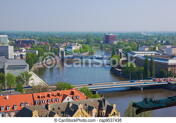 bridges of Wroclaw, Poland - csp9537438