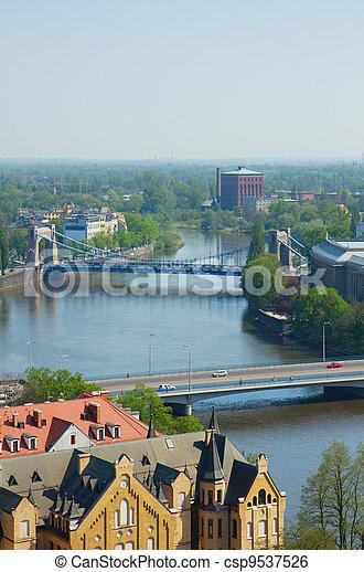 bridges of Wroclaw, Poland - csp9537526