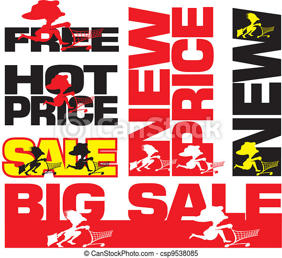 big sale, hot price, new, free - csp9538085