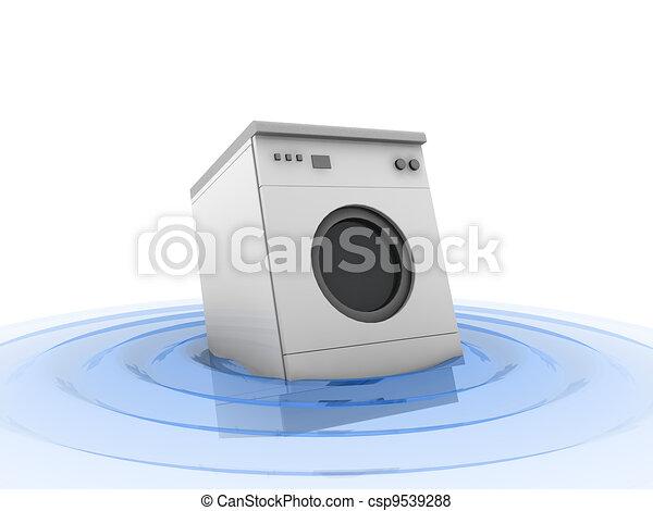 3d machine in water  - csp9539288