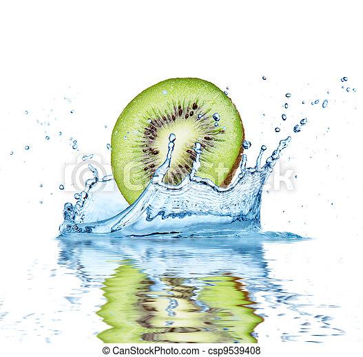 水, 落ちる, フルーツ - csp9539408