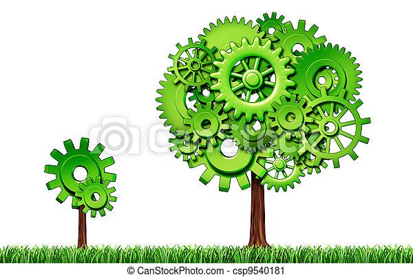 Economic Growth - csp9540181