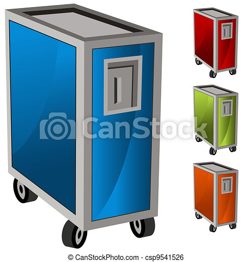 Meal Delivery Cart Set - csp9541526