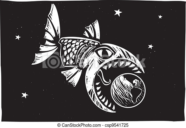 Fish Eating Earth - csp9541725