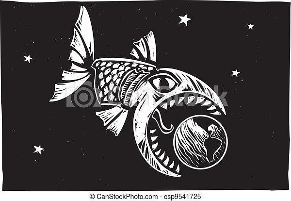 Fish Eating Earth - csp9541725