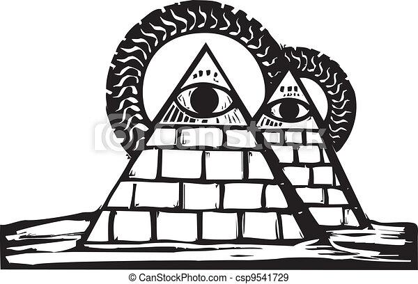 Masonic Pyramids - csp9541729