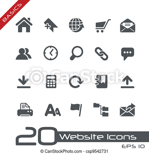Website Icons // Basics - csp9542731