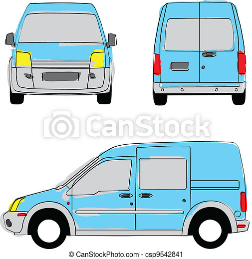 Delivery van artistic colors - csp9542841