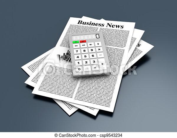 Analyzing business news - csp9543234