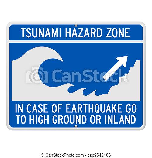Tsunami Danger Sign - csp9543486