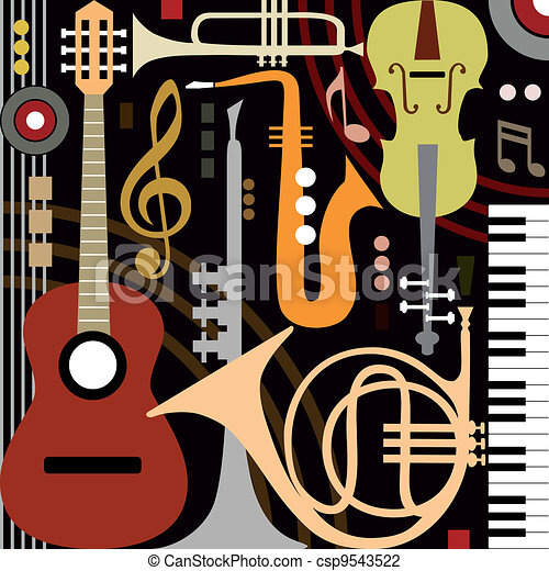 Abstract musical instruments - csp9543522