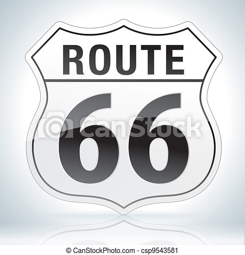 Route Sixty Six Sign - csp9543581