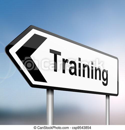 Training concept. - csp9543854