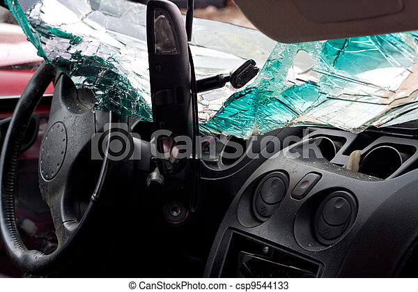 Crashed Automobile Interior - csp9544133