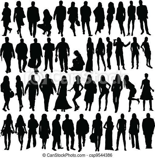Clip Art Vector of people silhouette csp5926476 - Search Clipart ...