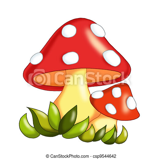 Clipart di funghi - colorato, illustrazione, - 24.4KB