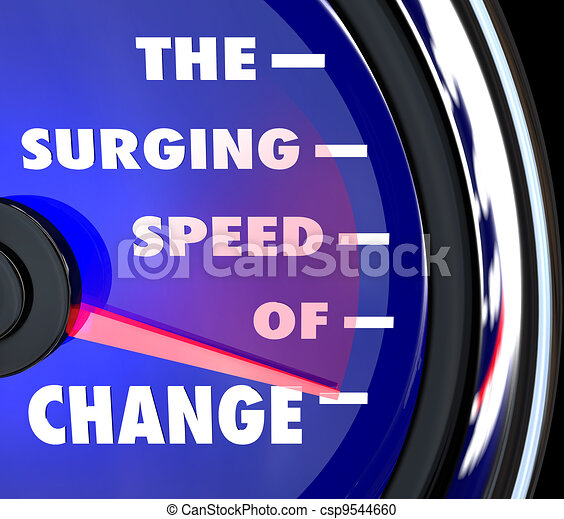 The Surging Speed of Change Speedometer Tracks Evolution - csp9544660